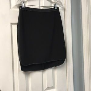 Mossimo Black skirt with faux leather trim size 8